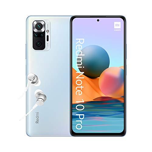 Xiaomi Redmi Note 10 Pro - Smartphone 6+64GB, 6,67' AMOLED DotDisplay de 120 Hz, Snapdragon 732G, 108 MP Cámara cuádruple, 5020 mAh, Azul Glaciar (versión ES)