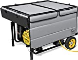 IGAN Generator Tent Running Cover, Ultra Heavy Duty Tarpaulin Enclosure, Portable All-Weather Generator Rain Shelter for Most 3500w-12000w generators, Gray-1