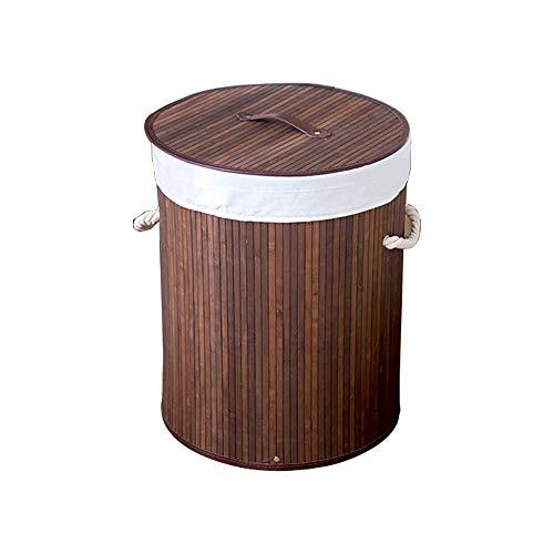 Laundry basket Wäschekorb Haushalt Bambus gewebt Schmutzige Kleidung Korb Spielzeug Kleinigkeiten Aufbewahrungskorb Feuchtigkeitsbeständig Schimmel schmutzabweisend und leicht zu reinigen