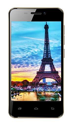 TEENO Telephone 4.0 Pouces Portable Debloqué 1Go RAM 8Go ROM Android Smartphone 4G/WiFi Pas Cher(Micro SIM Slots *2 & SD Slot *1),Or