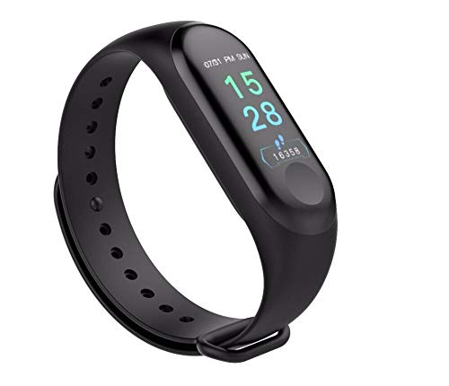 HUG PUPPY Smart Band Fitness Tracker Watch with Heart Rate, Activity Tracker Waterproof Body Functions Like Steps Counter, Calorie Counter, Blood Pressure, Heart Rate Monitor LED Touchscreen (Blue)