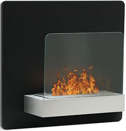 Elegant Black Wall Mounted Fireplace| High Quality Bio Ethanol Fireplace Burner in Modern Design and Living Flames