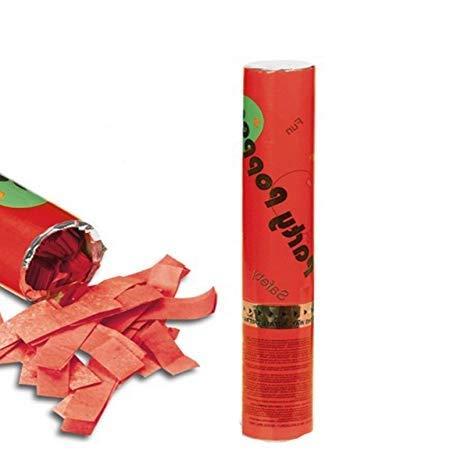 Palucart 3 sparacoriandoli Rosso spara coriandoli Rossi Party Popper 30cm Cannone sparacoriandoli Colorati 4180