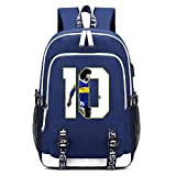 HUSTLE Maradona Mochila Escolares Juveniles para Portátil Mochila Unisex De Carga USB Backpack Resistente Al Agua Universitaria Daypacks para Mujeres Hombres,Armada,A