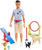Barbie Ken Dog Trainer Playset with Doll and Accessories, Multi