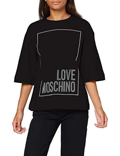 Love Moschino T-Shirt, Black, 38 Donna