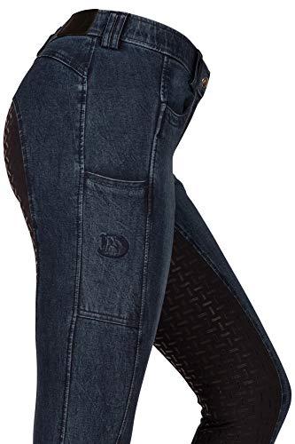 RIDERS CHOICE Damen Jeansreithose mit Silikonvollbesatz und Handytasche - RidersDeal Collection für Reiter, Gr. 40