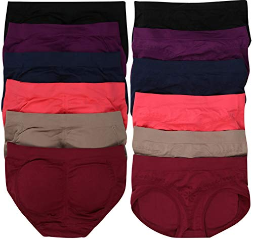 ToBeInStyle Women's Pack of 6 Padded Briefs - One Size