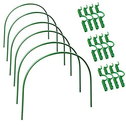 QLINDGK Aros de invernadero, diseño de túnel de jardín sin óxido y soporte para plantas de cultivo de túnel con clip de aro de túnel