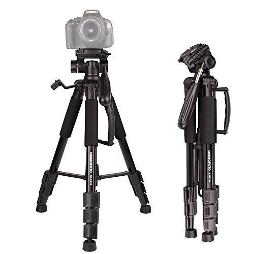 CAMBOFOTO Trépied Caméra-140cm Trépied pour Appareil Photo, Trépied...
