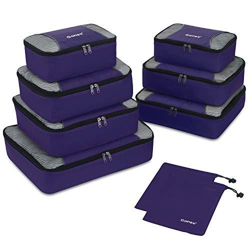 Gonex Organisateurs de Bagage Sacs Rangement de Valise Voyage (A-Violet, 9...