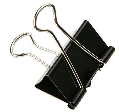 SBS, Clip per rilegatura, mollette da ufficio in metallo per fogli, 41 mm, 30 pezzi