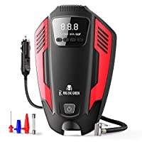 EASY TO USE & FAST INFLATING (50L/Min Airflow Output) – Just plug your RNG EKO GREEN air pump for car tires into 12V power outlet and set your desired pressure. Start your inflating work with one-button. Powerful motor allows the tire pump to inflate...