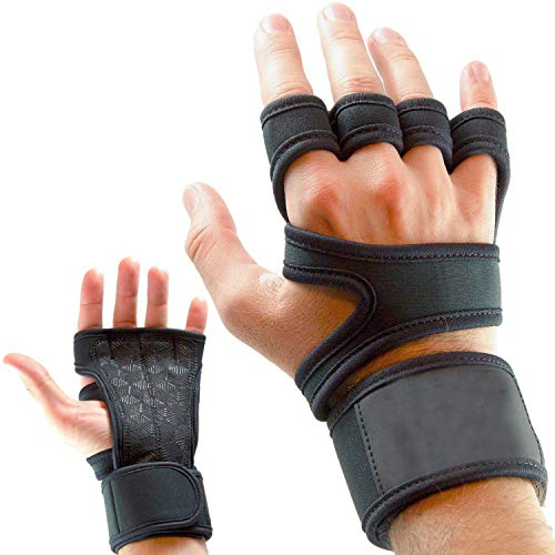 Serveuttam Leosportz Workout Gloves with Wrist Support for Gym Workouts, Pull Ups, Cross Training,...