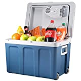 Knox Electric Cooler and Warmer for Car and Home with Wheels - 48 Quart (45 Liter) – Holds 60 Cans or 6 Two Liter Bottles and 15 Cans - Dual 110V AC House and 12V DC Vehicle Plugs