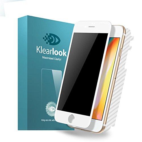 KlearLook Iphone 8/Iphone 7用 プライバシー防止系列 ケースに対応 強化ガラス液晶全面保護フィルム 覗き...