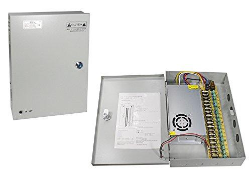 Vetrinerete Fuente de alimentación estabilizada para cámaras de videovigilancia con salidas de 18 canales Camera Box 12v 20a 220v A16