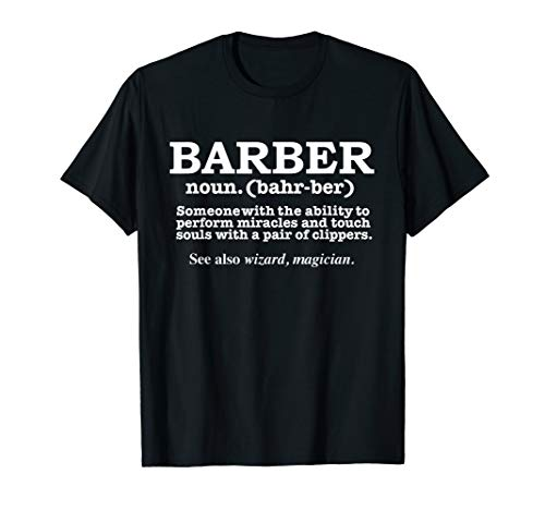 Best Barber Definition Ever Funny Gift Barbershop Present...