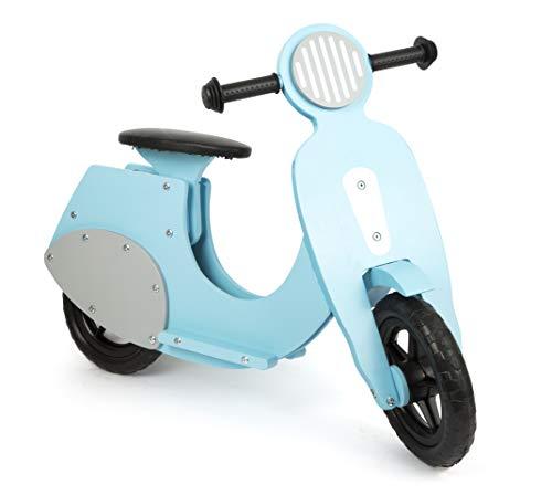 small foot 11979 Laufrad Motorroller 'Bella Italia' aus Holz, mit leiser Gummibereifung, für Kinder ab 3 Jahren (blau)