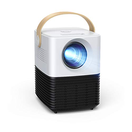 Mini Projecteur, APEMAN Portable Vidéoprojecteur Supporte 1080P, ± 30° Correction Trapézoïdale électronique, 120' LED Multimédia Home Cinéma Retroprojecteur, avec HDMI/USB, pour TV Stick/Phone/PC/PS4