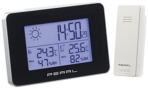 PEARL Uhr mit Wetterstation: Wetterstation mit Funkwecker, Thermo-/Hygrometer und Funk-Außensensor (Temperaturstation)