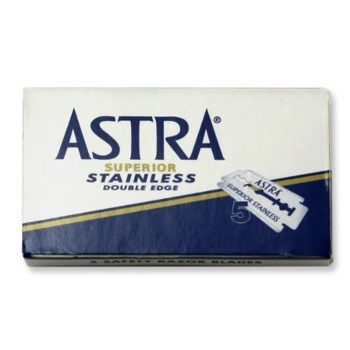 Lamette da barba Astra Superior Stainless Blue - 100 lamette rasoio da barba