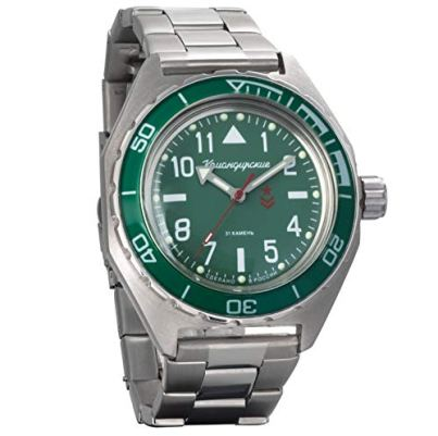 Vostok Komandirskie Mens Automatic Russian Military Wristwatch WR 200m (650856)