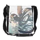 Hdadwy Bolso de hombro con estampado de anime Overlord para bolso de hombro estrecho y de ocio para mujeres y hombres (11,8 x 11,8 pulgadas)