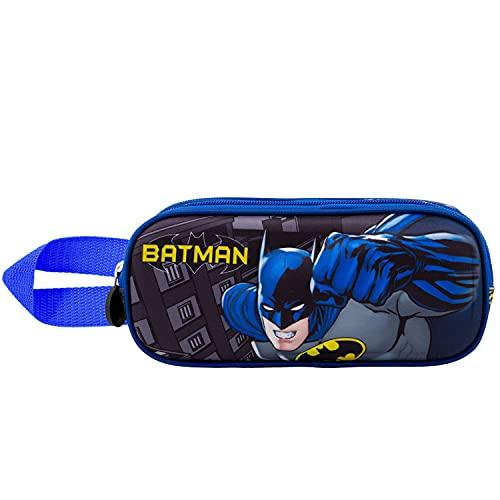 KARACTERMANIA Batman Fist-Astuccio Portatutto 3D Doppio, Griggio