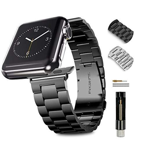 Apple Watch 金属ベルト Evershop 44mm/42mm ステンレス アップルウォッチ ベルト ビジネス風 時計バンド ...