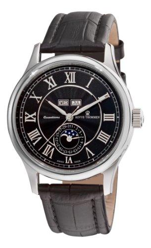 Revue Thommen Herren Analog Automatik Uhr mit Leder Armband 16066.2537