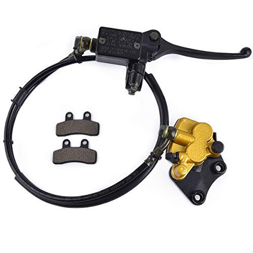 Front Disc Brake Master Cylinder Caliper with Brake Pad Assembly for Chinese 50cc 70cc 90cc 110cc 125cc Dirt Bike Pit Bike