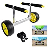 GanFindX Heavy Duty Kayak Cart for Carrying Kayaks and Canoes | 100 kg/220 Lb Weight Rating Adjustable Width Kayaking Trolley with Flat-Free Wheels