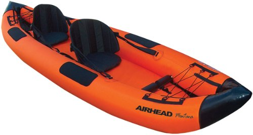 Airhead Montana Kayak Two Person Inflatable Kayak , white, 12 ft