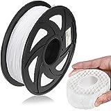 CooBeen TPU Filament 1.75mm Flexible TPU, Durable Resilient 3D Printer TPU Filament, 1kg Spool (2.2 lbs), Standard Dimensional Accuracy +/- 0.02 mm, 95A Soft/1 Pack (White)