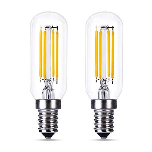 E14 LED Dimmerabile per Cappa Cucina, AC 230V, 4W Equivalente a Incandescenza E14 40W, Lampadina Filamento LED E14 Luce Fredda 6000K, T25, 400LM, LED E14 Dimmerabile per Lampadario, set di 2