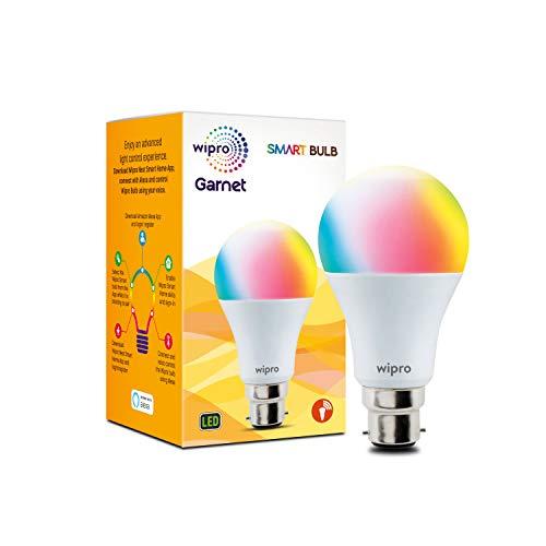Wipro 9-Watt B22 WiFi Enabled Smart NS9001 LED Bulb (16 Million Colors + Warm White/Neutral...