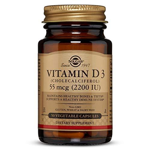 Solgar Vitamina D3 (Colecalciferol) 2200 UI (55 µg) Cápsulas...