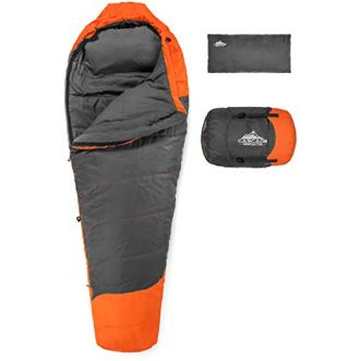 Cascade-Mountain-Tech-Adventure-30-Degree-Mummy-Sleeping-Bag-Lightweight-Compact-3-Season-Backpacking-Sleeping-Bag-with-Pillow-and-Compression-Sack