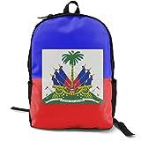 Mochila escolar Boockbag Fashion College Daypack para mujeres hombres y mujeres bandera de Haití