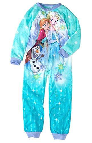 Disney Frozen Anna, Elsa and Olaf Fleece Footless Pajama Sleeper