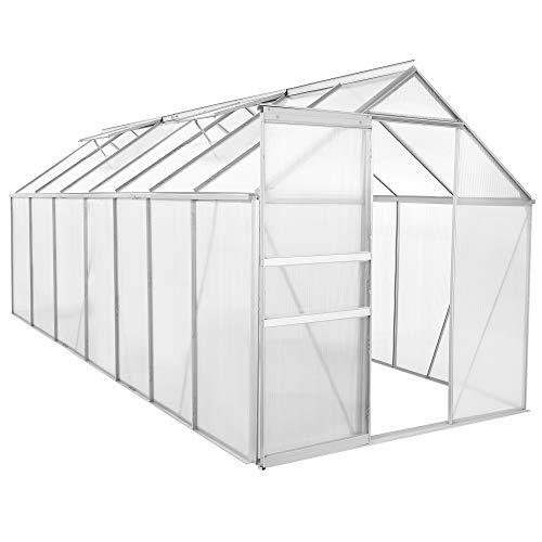 Zelsius Aluminium Gewächshaus für den Garten | 430 x...