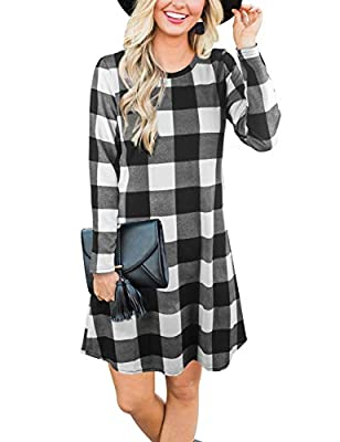 Material: Polyester + Cotton, feeling soft and high quality. Christmas Day Outfits: The pattern of classic plaid printed. The Christmas family outfits let your family capture the precious memories in Christmas Eve and Christmas morning, and will be s...