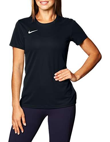 Nike Dry Park VII W Maglietta a Maniche Corte Donna, Nero (Black/White), XL