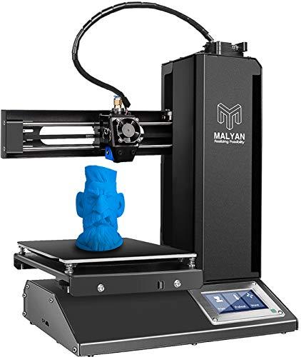 3D Printer with Build Plate 150x150x150mm, FDM DIY Printers Black,Office 3D Printer,Assembled Flexible Magnetic Print Sheet and Micro SD Card Preloaded Sample PLA Filament Metal Frame 3D Printer