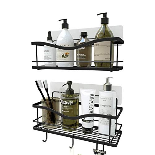 KINCMAX Shower Caddy Bathroom Shelf, No Drilling Traceless Adhesive Bathroom Storage Organizer, SUS304 Rustproof...