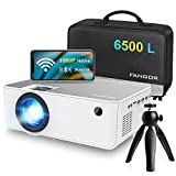 1080P HD Projector, WiFi Projector Bluetooth Projector, FANGOR 6500L 230' Portable Movie Projector, Home Theater Video Projector Compatible with TV Stick, HDMI, VGA, USB, Laptop, iOS & Android