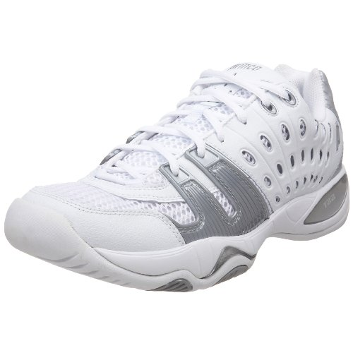 Prince Women's T22 Tennis Shoe,White/Silver,8 M US