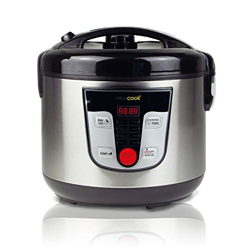 NEWCOOK Robot de Cocina Multifunción, Capacidad 5 Litros, Programable Hasta 24H, Cocina...