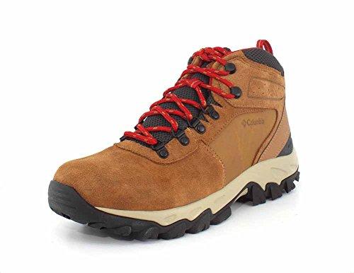 Columbia Men's Newton Ridge Plus II Suede Waterproof Boot - Wide, elk, mountain red 11.5 US